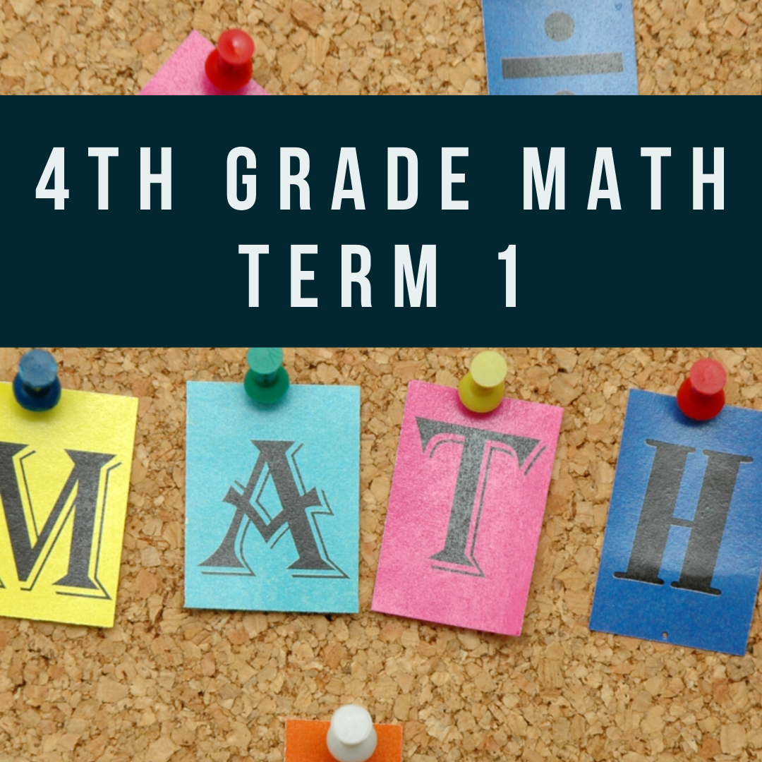 Self Paced: 4th Grade Mathematics - 10 weeks (Whole Numbers, Estimation and Rounding of Whole Numbers, Factors & Multiples, Word Problems, Tables and Line Graphs)